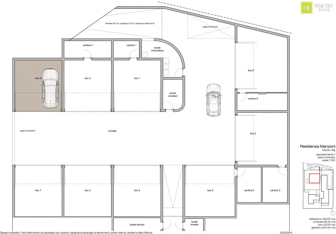Planimetria Unità 01 Residenza Manzoni