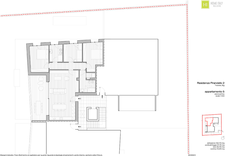 Planimetria unità 05 Residenza Pirandello 2